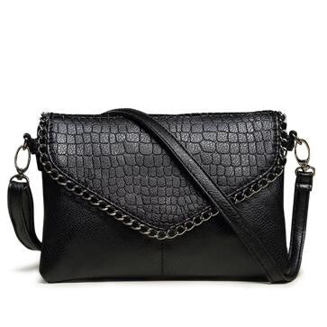 Stylish Soft PU Leather Handbag, Converts to Crossbody Bag Or Clutch