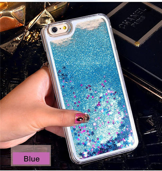 New Dynamic Liquid Glitter Sand Quicksand Star Cases For iphone 4 4S 5 5s SE/6 6s / 7 plus  Back Cover phone case 36 Variants