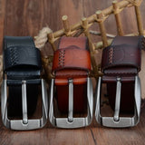 Pin Buckle High Quality Genuine Leather Belts For Men