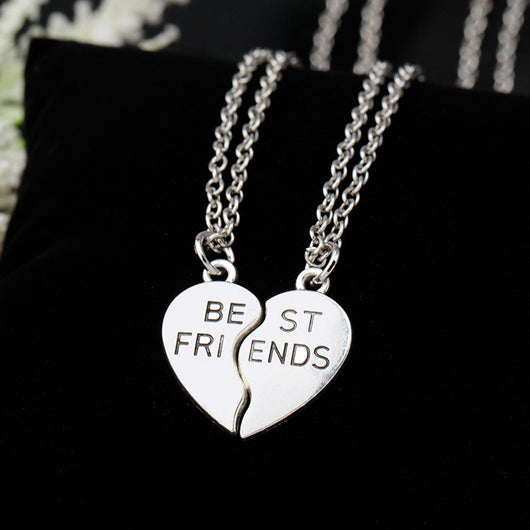 heart pendant pieces broken two best friend friendship forever