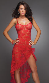 Long Sexy Lace Women's Nightie & G-String Sizes Up To 6XL!