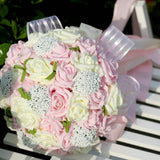 Artificial Wedding Bridal/Bridesmaid Bouquet - 5 Colors to Choose From!