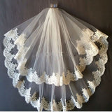 Stunningly Beautiful and Romantic 2-Layer Fingertip Length Bridal Veil