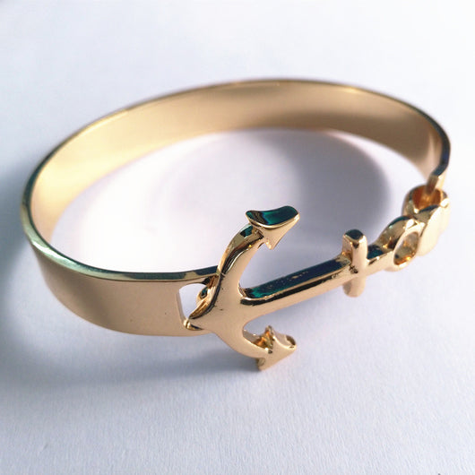 New Arrival Fashion Anchor Bracelets For Women Men Jewelry Plated Gold Bracelets