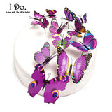 12pcs  Butterfly Wedding Cake Decoration Topper