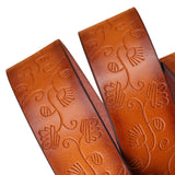 "Woman Casual Embossing PU Leather Fashion Vintage Pin Buckle  43 1/3""- 45 1/5"""