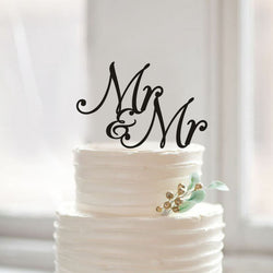 Rustic Mr & Mr  Same Sex Wedding Cake topper