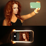 Glowing Phone Case Cover for iPhone 5 SE 6 6S 7 Plus Selfie Luminous Cases For Samsung S6 S7 Edge Plus Covers