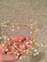 Stunningly Beautiful and Versatile Golden Headband/Tiara/Spray for Your Wedding Day