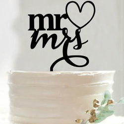 Mr.and Mrs. Wedding Cake Topper