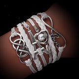 Fashion Infinite Multiplayer Leather Bracelets Love Anchor For Women