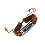 2 PCs  Best Friend Bracelet Genuine Leather  Bangles Bracelets for Men & Women