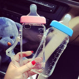 IPhone 6 6S Plus Phone Cases Baby Milk Bottle Liquid Quicksand Holder Transparent Silicon TPU