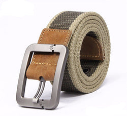 Solid Canvas Casual Belt for Men