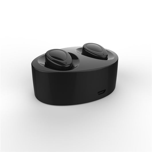 Pair Of Mini Bluetooth Earphones With Charging Dock