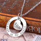 High quality Son Forever in My Heart Necklaces For Mother Dad Love Family Gift