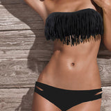 Sexy Women's Plus Size  Low Waist Bikini Set At castilleco.com