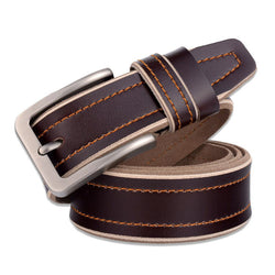 High Quality Luxury Designer Genuine Leather Pin Buckle Men Belt
