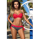 Sexy Women's Plus Size  Low Waist Bikini Set