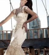 Gorgeous Pnina Tornai Inspired Romantic Sweetheart Lace Mermaid Wedding Gown