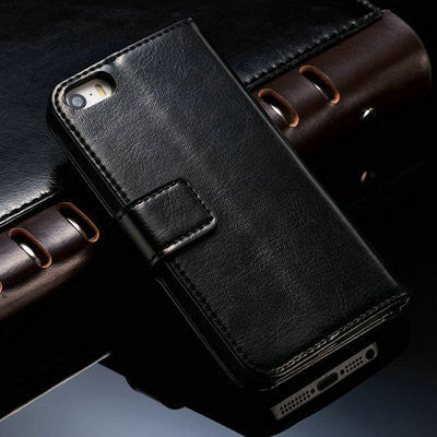 Luxury Leather Case for Apple iPhone 5S 5 SE