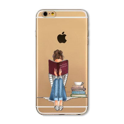 Shopping Girl Soft Silicon iPhone Case Cover For iPhone 4s 5s SE 6 6s 6plus