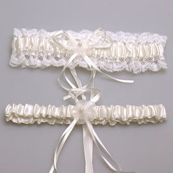 Ivory Sexy Lace Bridal Garter Set