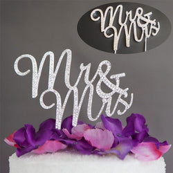 Crystal Bling Mr & Mrs Wedding Cake Topper - FREE SHIPPING.