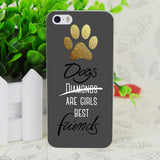 Dogs Best Friends mobile phone Cases For iphone 5s 4s 4c 6 6plus