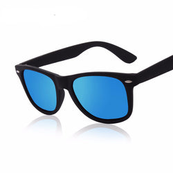 Men Polarized Driving Mirrors Black Frame Sunglasses UV400