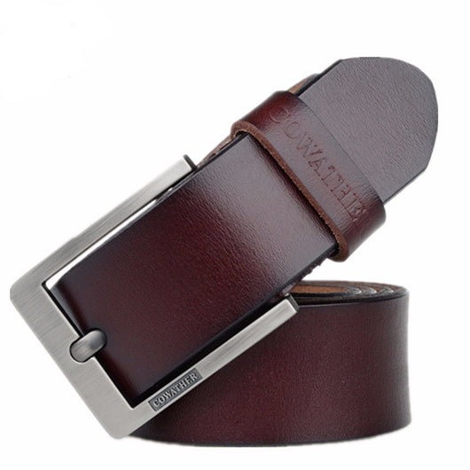 Luxury High Quality Men Belt Genuine Leather Pin Buckle ceinture men belts  42 Variants