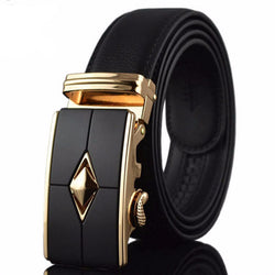 High Quality Automatic Buckle Genuine leather men Belts