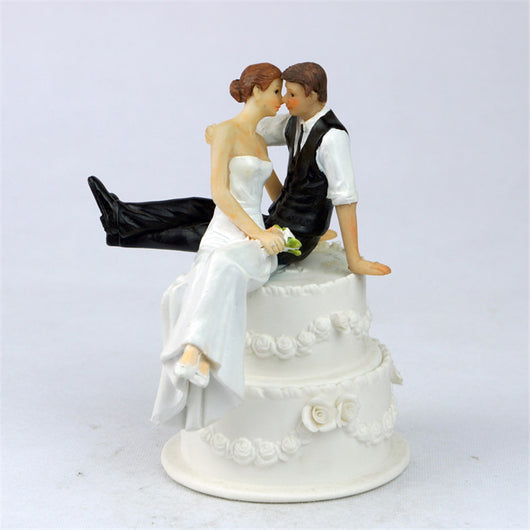 The Look of Love Romantic Bride & Groom Wedding Cake Topper