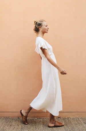 BANKSIA Dress - natural linen-gauze