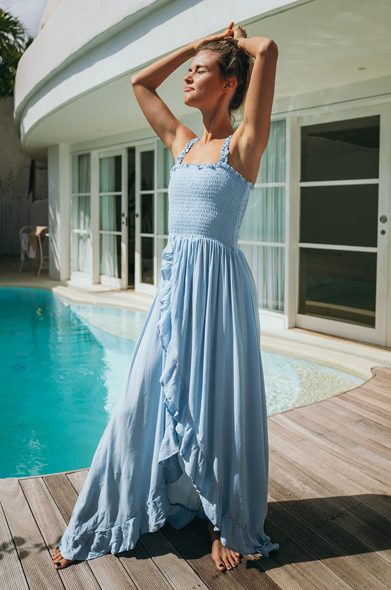 ESPERANCE Maxi Dress - light blue
