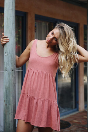 MAHAL Dress - dark blush cotton