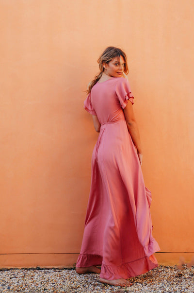 PARAISO Wrap Dress - dark blush ecovero