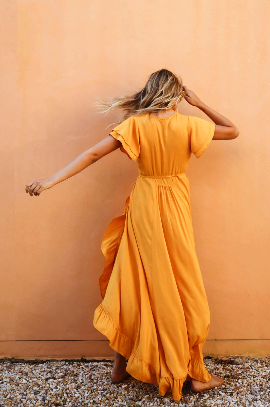 PARAISO Wrap Dress - turmeric