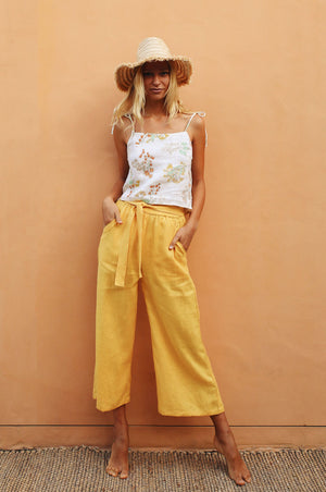 ACACIA Pants - yellow linen