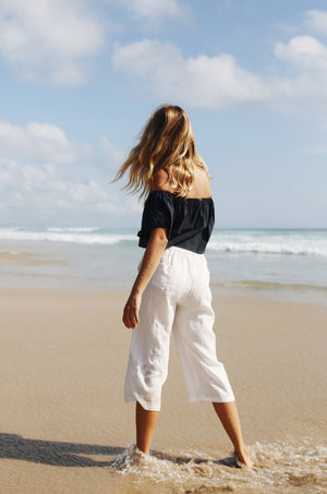 PUSHKAR Pants - white linen