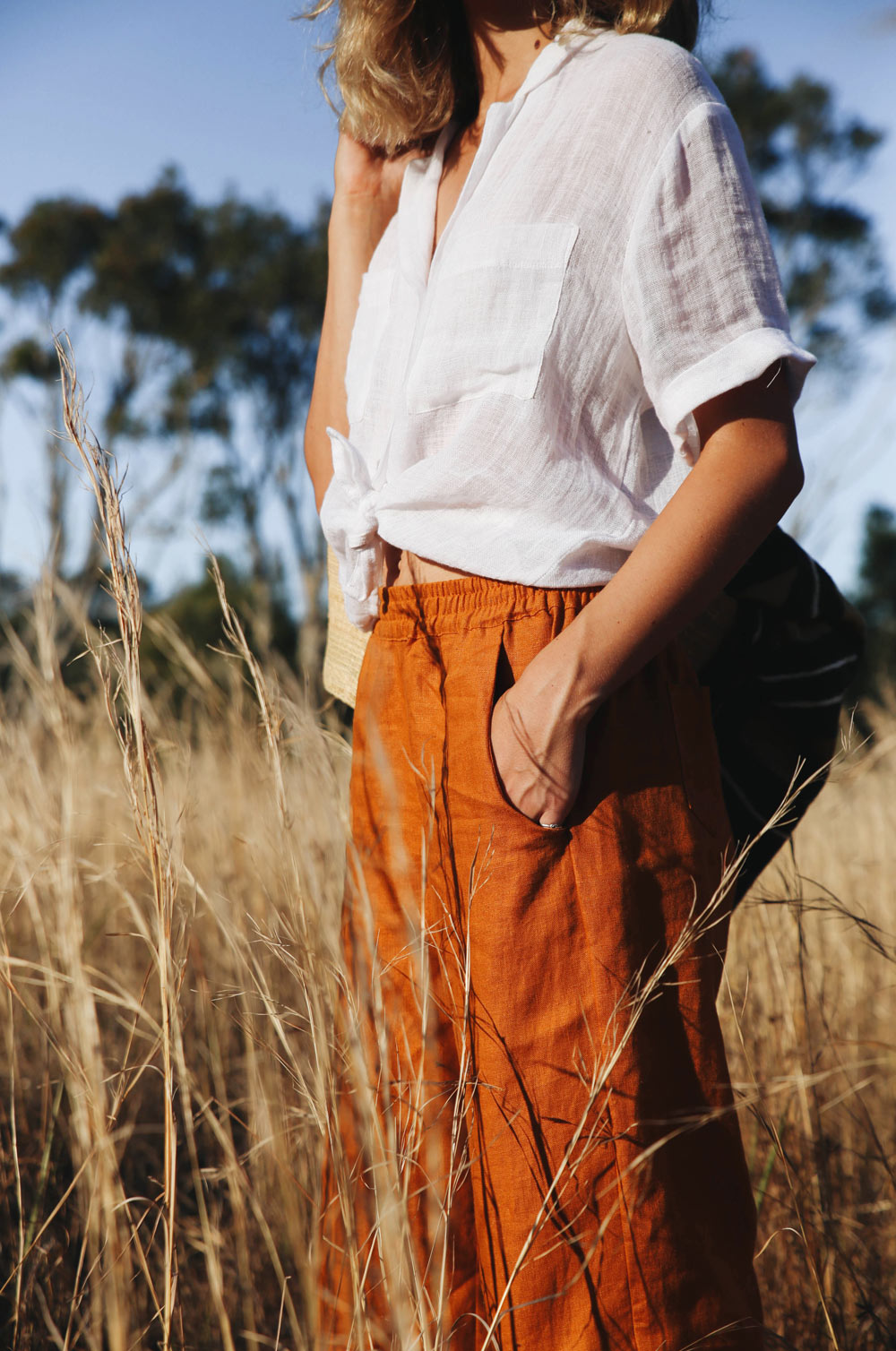 SAFARI Shirt - white linen