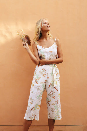 WATTLE Jumpsuit - wildflower linen