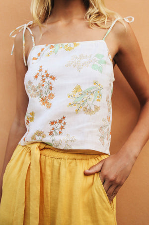WATTLE Top - wildflower linen