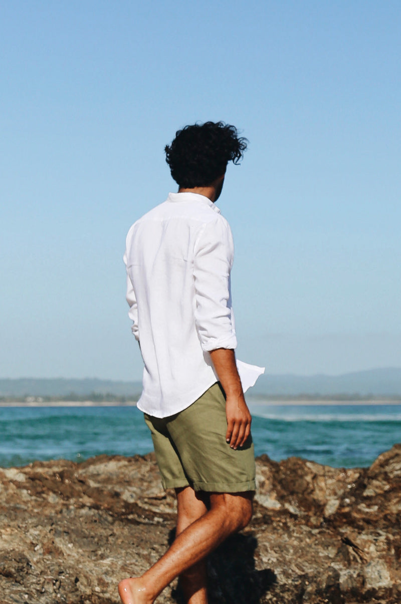 MEN'S LINEN Shirt - white