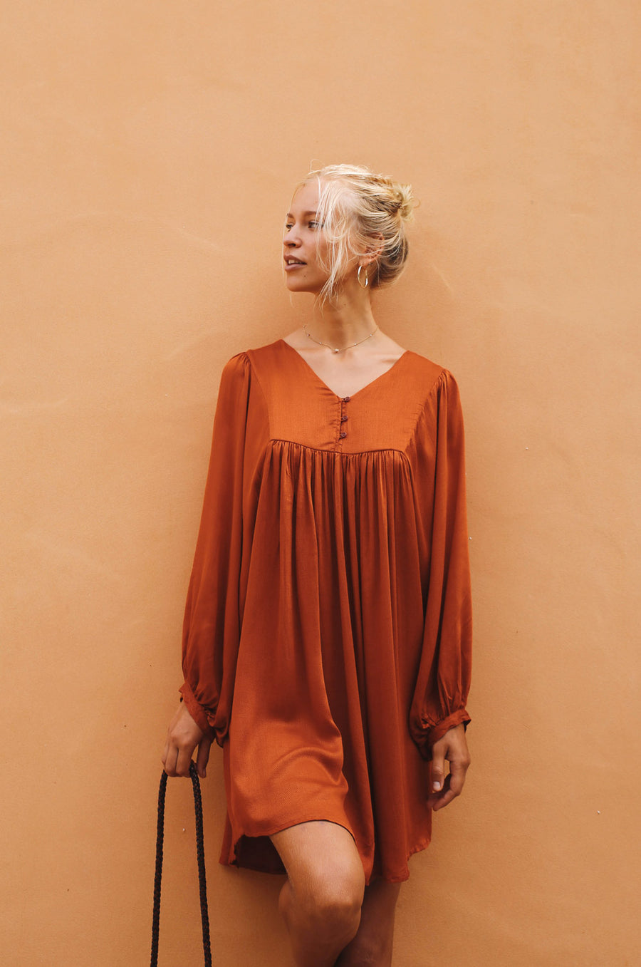 MYRTLE Dress - burnt orange