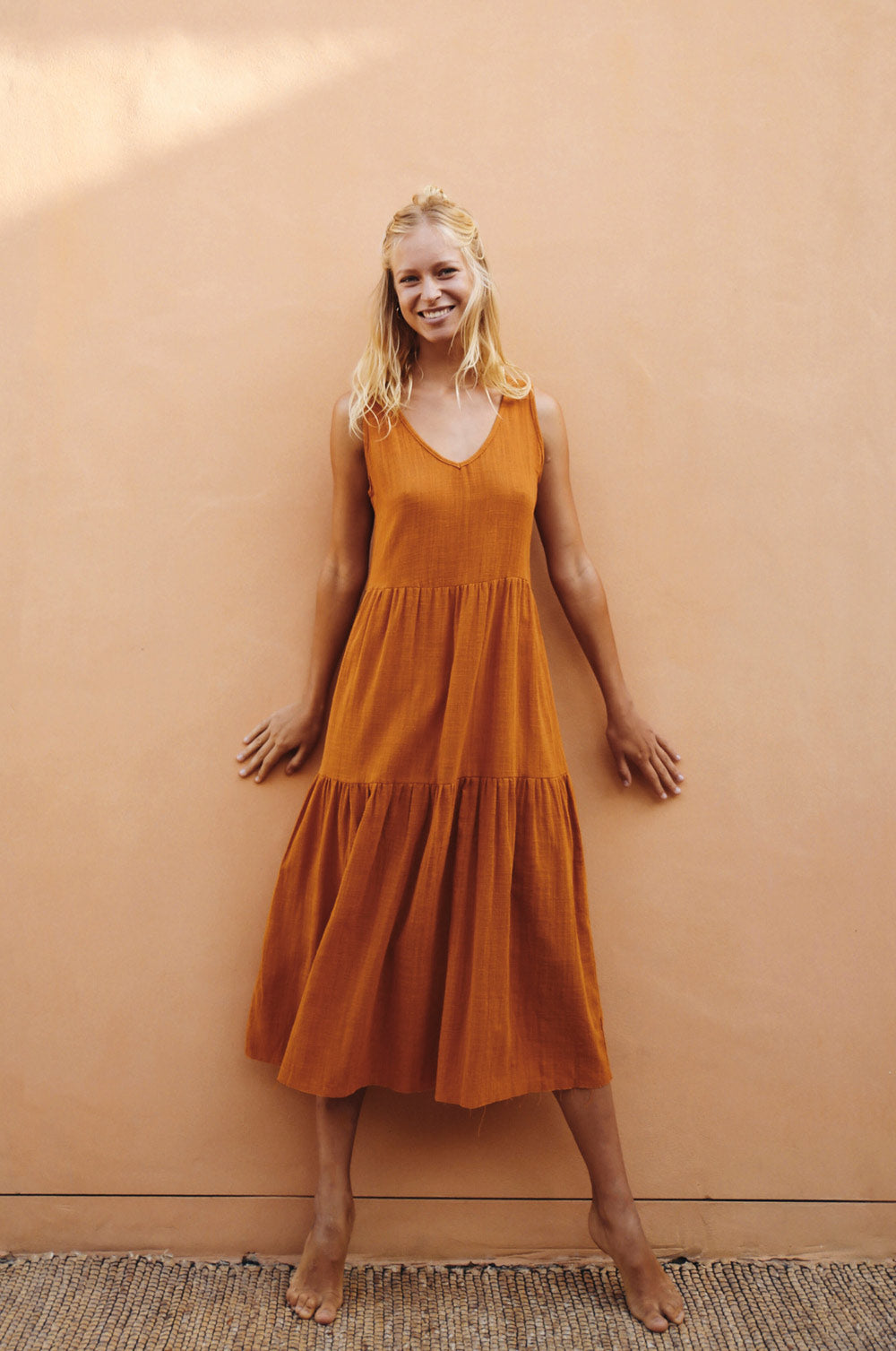 GREVILLEA Dress - ochre cotton