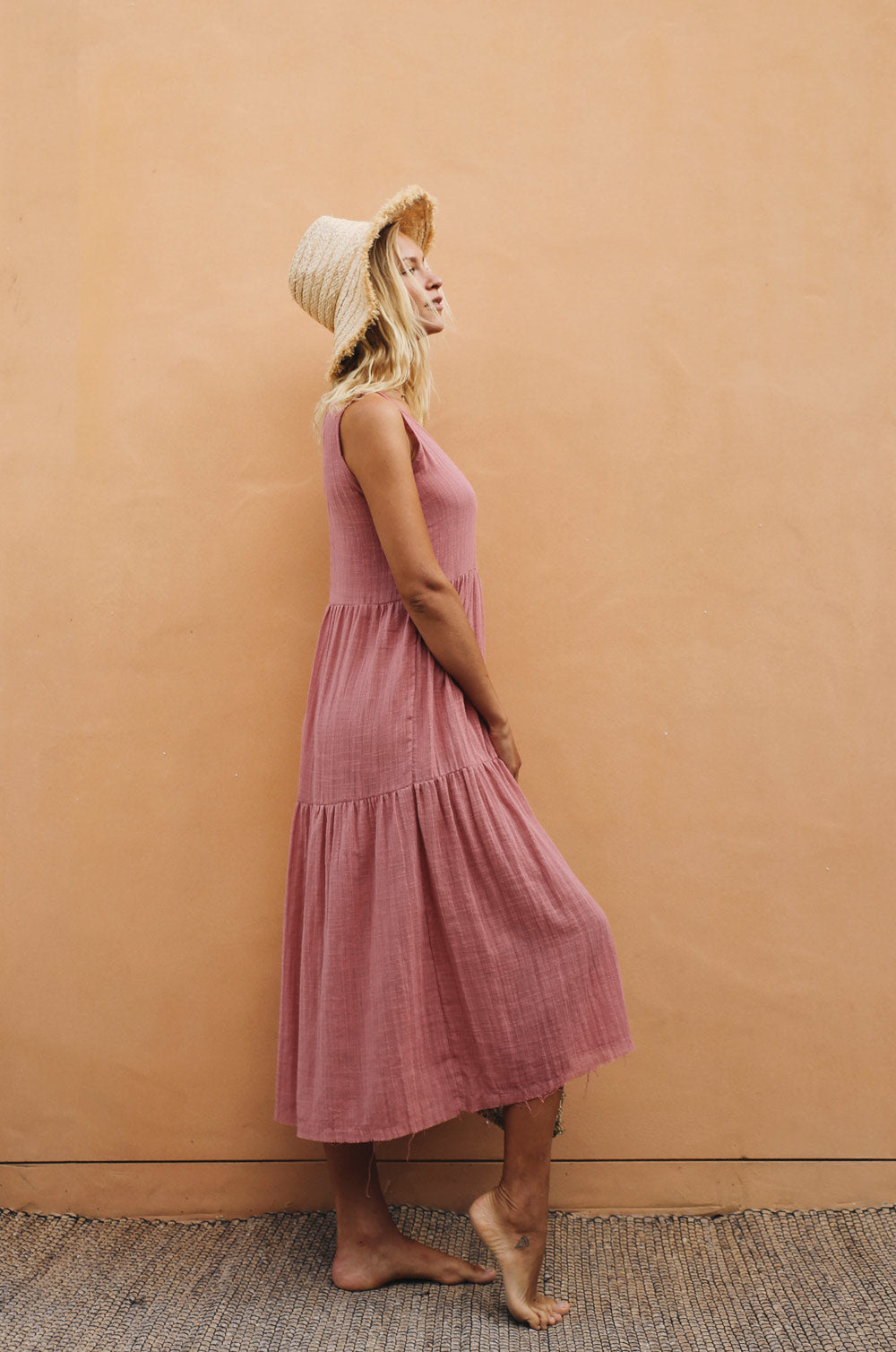 GREVILLEA Dress - dark blush cotton
