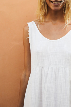 MAHAL Dress - off-white cotton