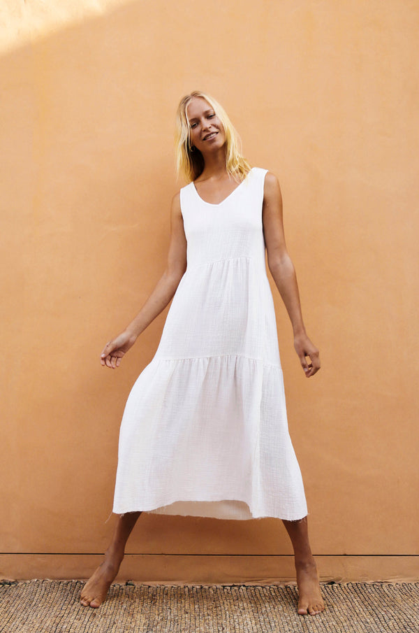 42b82fa1de SERENGETI Dress - off-white cotton ...