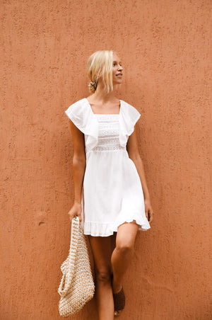 JACARANDA Dress - off-white cotton